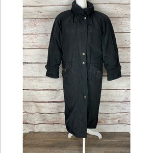 Cyclone Black Trench Puffer Jacket
